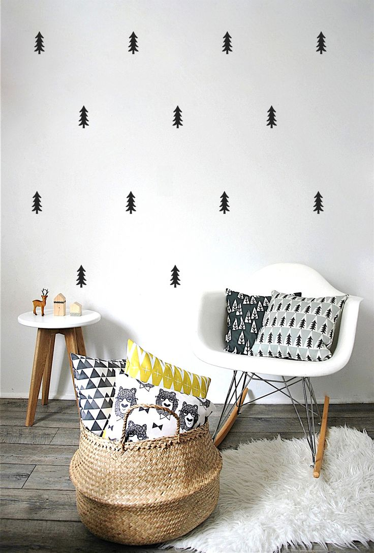 top 25 best black wall stickers ideas on pinterest 3d wall kids room decor black wall stickers pine trees