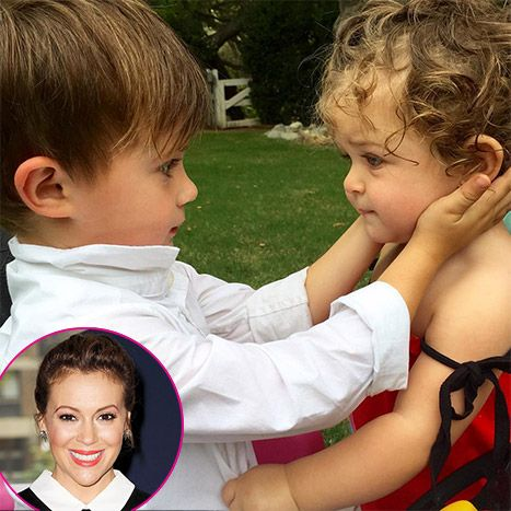 Alyssa Milano Speechless Over Her Kids' Adorable Sibling Moment - Us Weekly