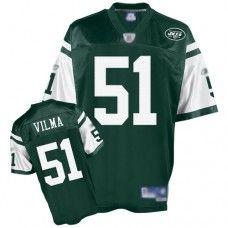 Jets #51 Jonathan Vilma Green Stitched NFL Jersey. Team ApparelNew York ...