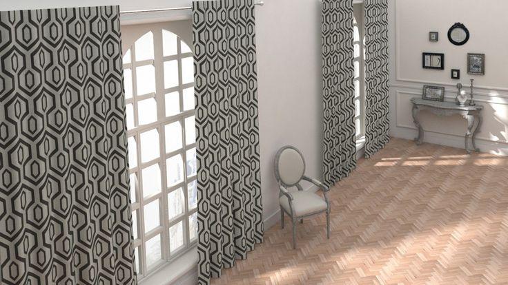 tissu moma noir blanc saint maclou tissu pinterest rideaux noirs rideaux et rideaux ray s. Black Bedroom Furniture Sets. Home Design Ideas