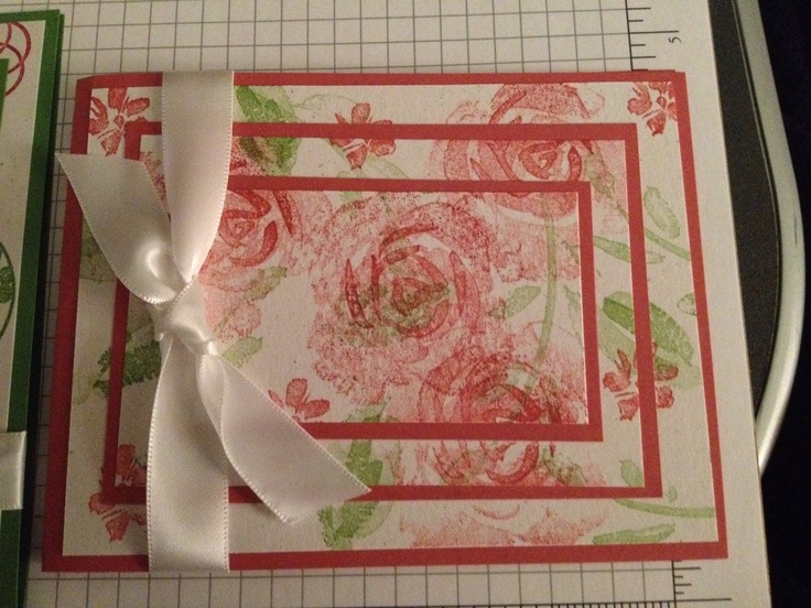 Stampin' Up Roses in Winter is a classic set that always looks great. It's an old set, but a set that you never get rid of.  I just need to add a greeting to this one.  This may be nice for a wedding card.
