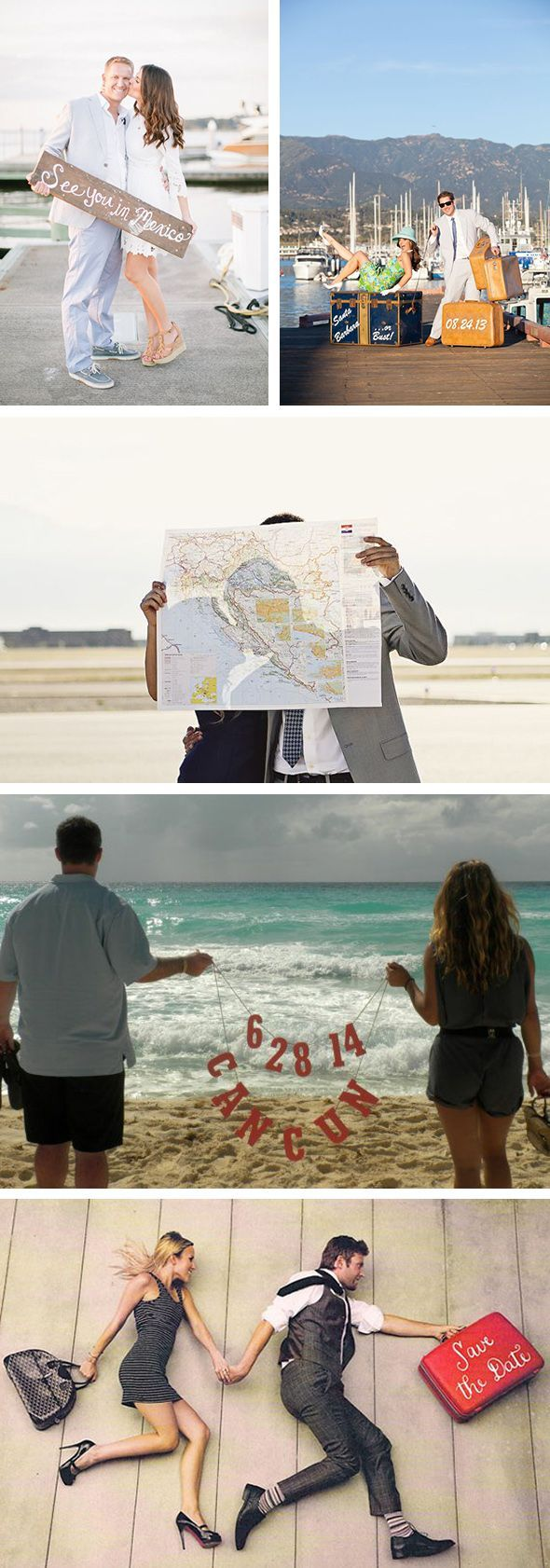 photo save the dates - love the map idea