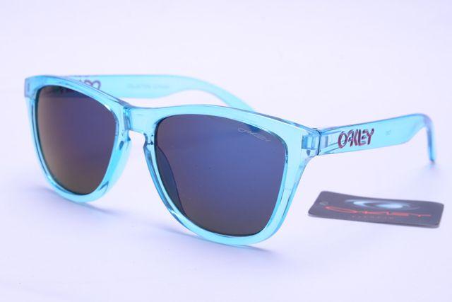 Cheap Oakley Frogskins Style Sunglasses Blue Frame-f298