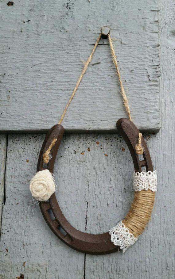 Gorgeous shabby chic horseshoe  https://www.etsy.com/listing/232553021/horseshoe-decorated-shabby-chic-wedding