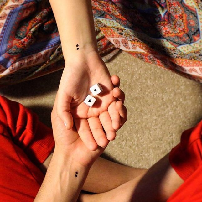Here's Why You're Probably Seeing Semicolon Tattoos Everywhere via Brit + Co.