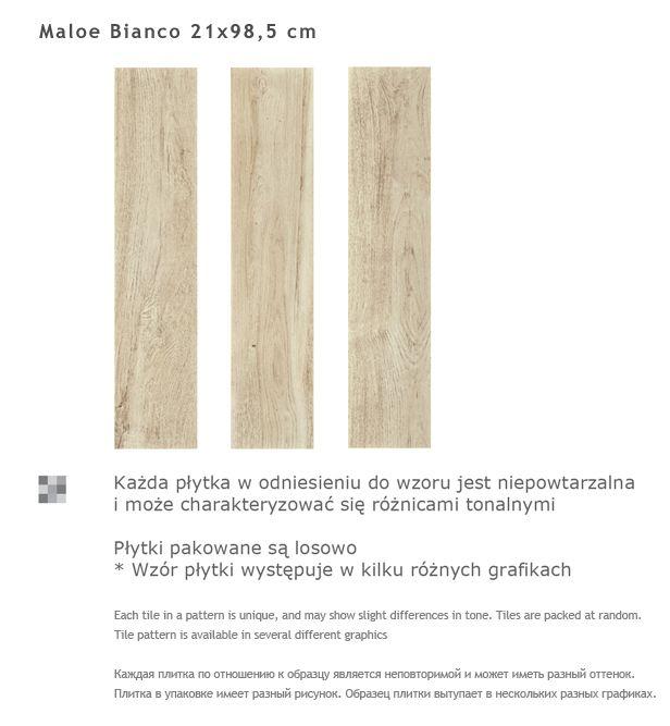 Maloe Bianco - BIANCO / biały - 21,5x98,5 - Płytki podłogowe - Maloe - Paradyz.com