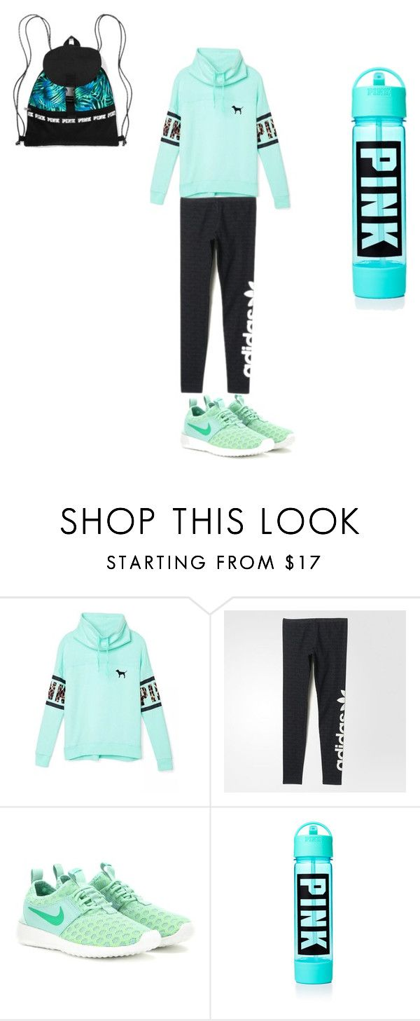 """Aerobics outift"" by luvaldes on Polyvore featuring Victoria's Secret, adidas, NIKE, women's clothing, women, female, woman, misses and juniors"
