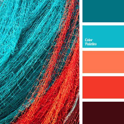 Strawberry color of this palette is successfully combined with blue-turquoise. Use this solution when choosing clothes for the New Year and you will look i