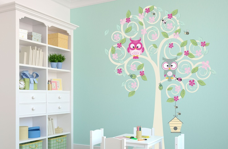 Owl Tree Decal