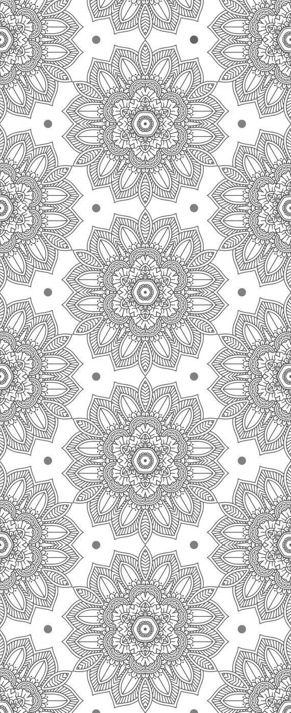 Black and White Wallpaper. Mandala Wallpaper Indian