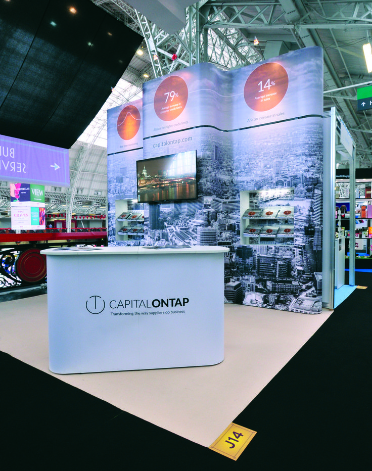 Modular Exhibition Stands London : Modular exhibition stand for capital on tap by