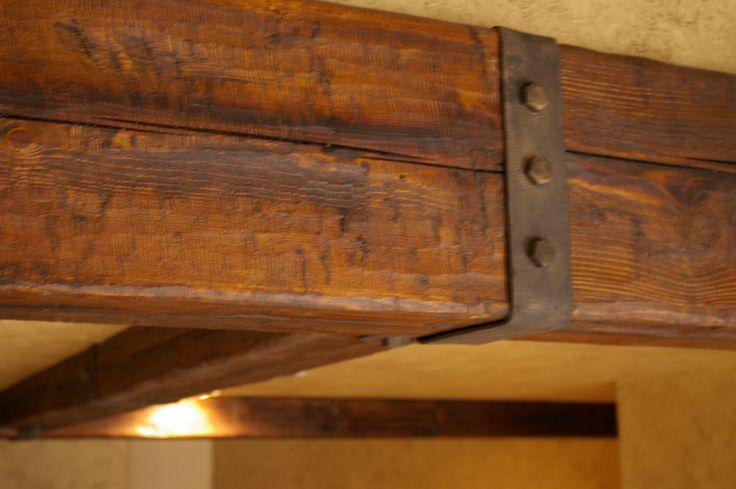 Distressed Rustic Wood Beam Rustic Beam Hardware Wood
