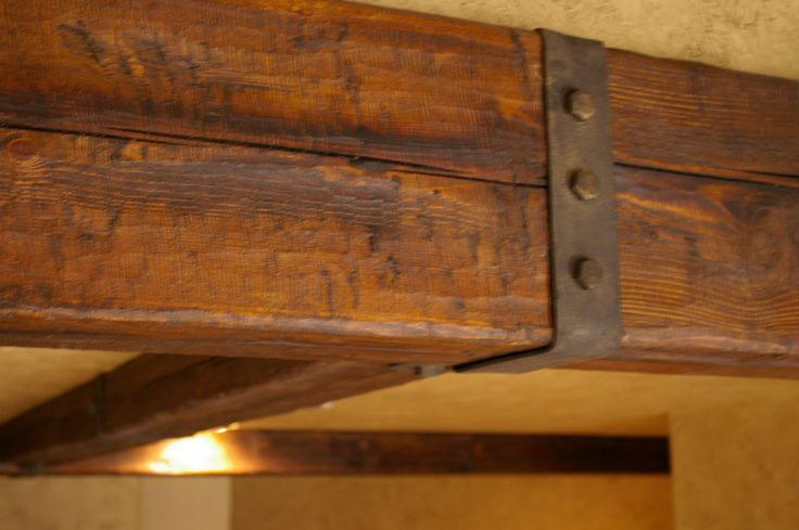 Distressed Rustic Wood Beam Rustic Beam Hardware Beams