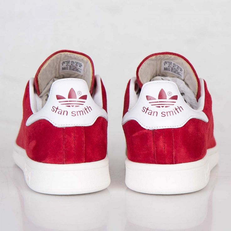 adidas stan smith rouge daim