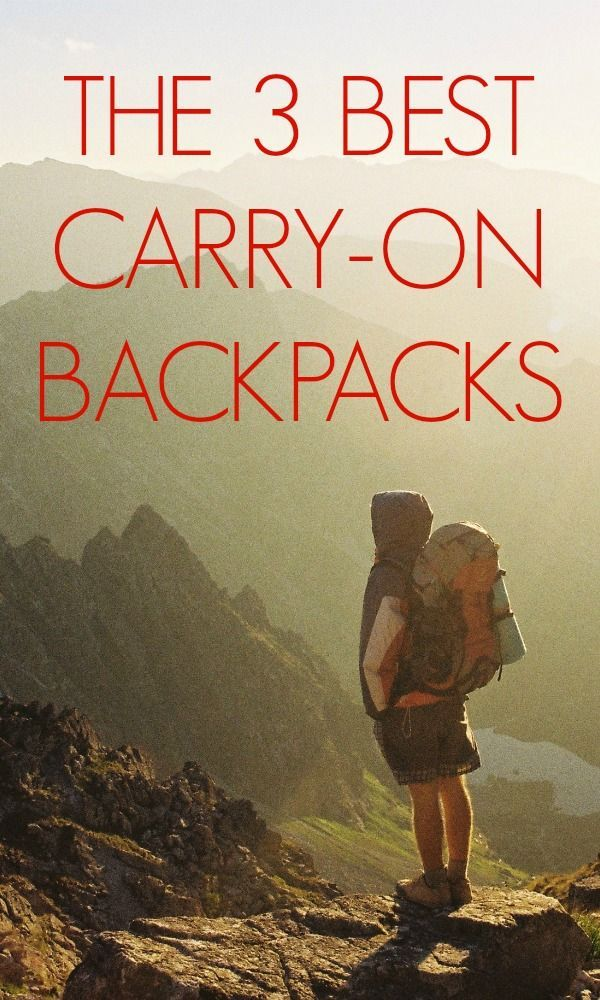 We reviewed the very best carry-on sized backpacks out there. Learn how to choose the BEST one for your next trip! //// sweetdistance.com //// #travel #backpack #travelbag