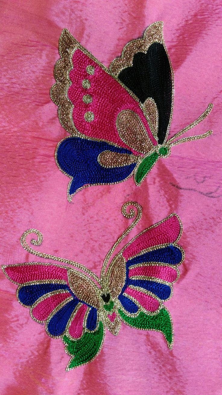 Buttefly Aruna Hand Work Embroidery Maggam