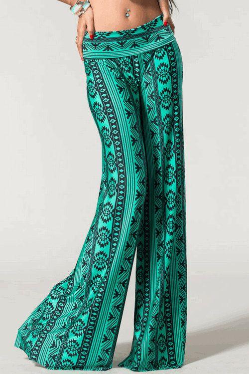 Jade & Black Tribal Print Yoga Pants on Etsy, $40.00