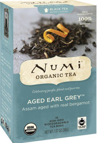 Numi Organic Tea Aged Earl Grey, Full Leaf Black Tea, 18 Count Tea Bags (Pack of 3) - http://teacoffeestore.com/numi-organic-tea-aged-earl-grey-full-leaf-black-tea-18-count-tea-bags-pack-of-3/