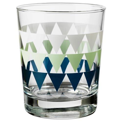 HANSYN Ποτήρι νερού με σχέδια - IKEA