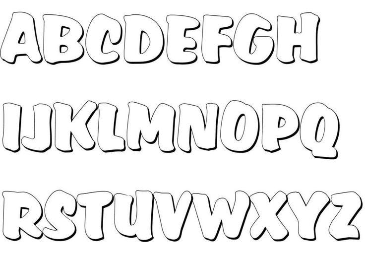 Graffiti Buchstaben Malvorlagen