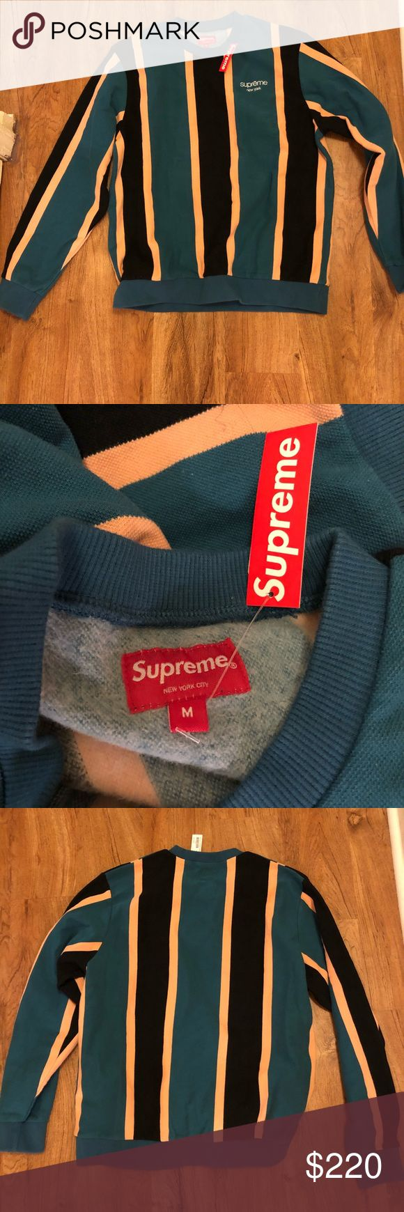 New Supreme crew neck Men's Brand new size medium never worn bought from real Supreme store in New York . Sold out online Supreme Sweaters Crewneck