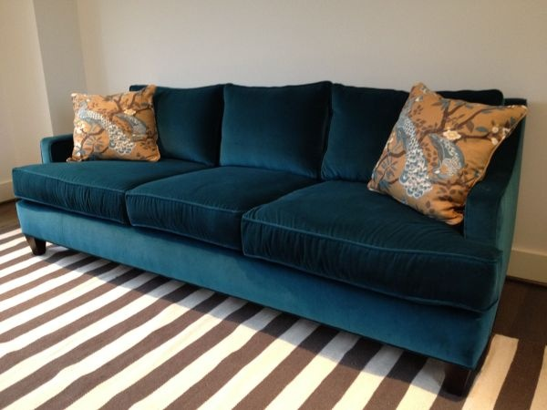 George Sofa By Dwell In Teal Velvet Velvet Couch Couch