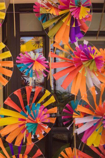 Pinwheels as elements at a mehendi II Dreamzkraft mehendi ideas