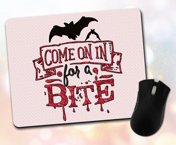 Custom Mouse Pad  Holiday Quote Halloween Come On In