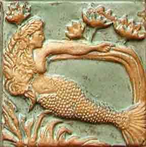 #Kuilema Pottery #mermaid tile, love!