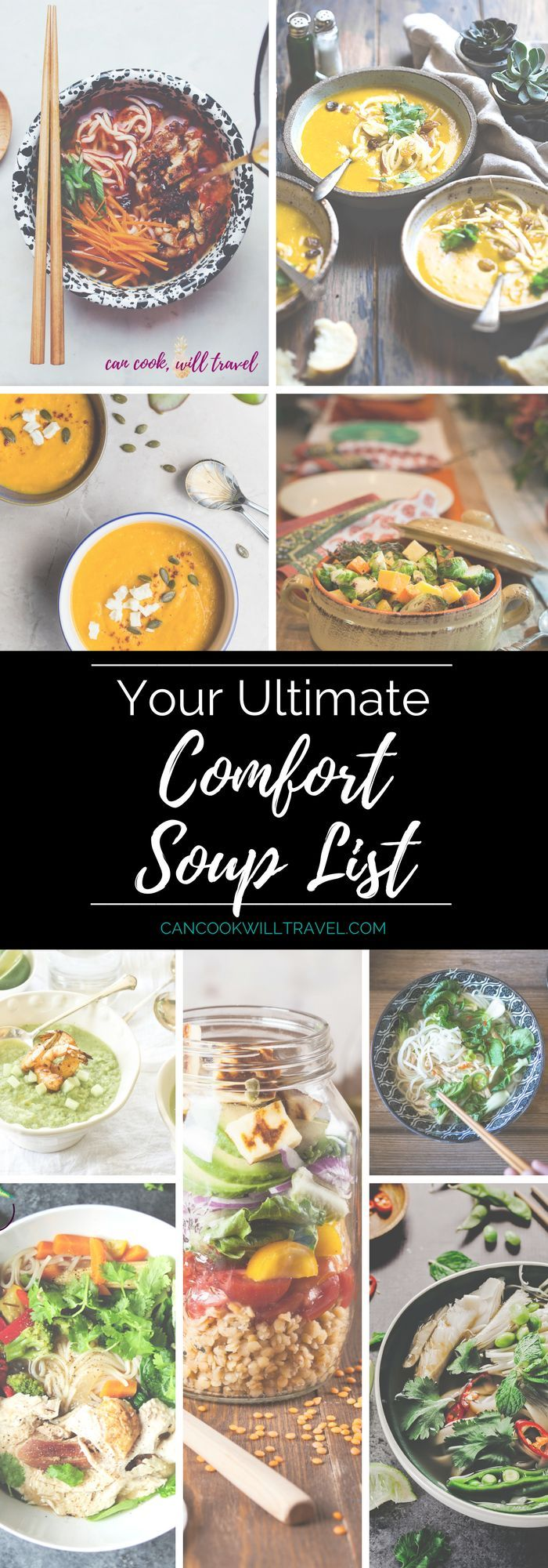 Here's your Ultimate List of Comfort Soups, where you'll find something for everyone. From healthy to indulgent to Asian-inspired to whatever your meat or veggie preferences are...there are SO many yummy recipes here.