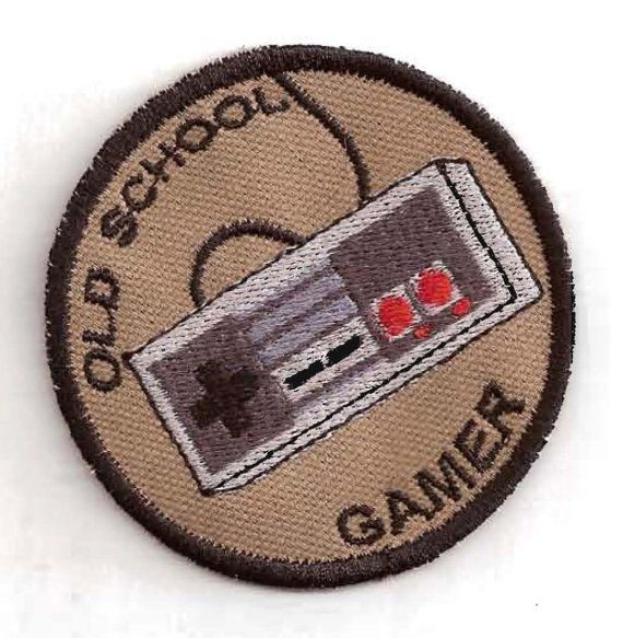 Old School Gamer NES Merit Badge Patch by StoriedThreads on Etsy, $8.00