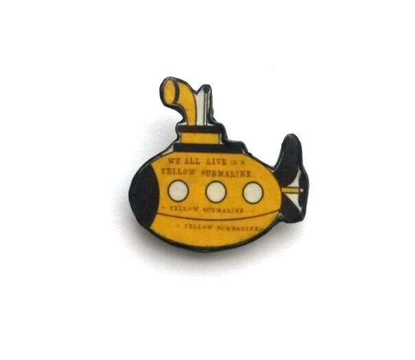 Yellow Submarine Beatles Brooch by EllyMental £13.00