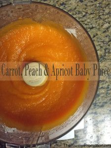 Apricot, Carrot Peach Baby Food Puree_Recipe_The Mommy Promotion_Recipes