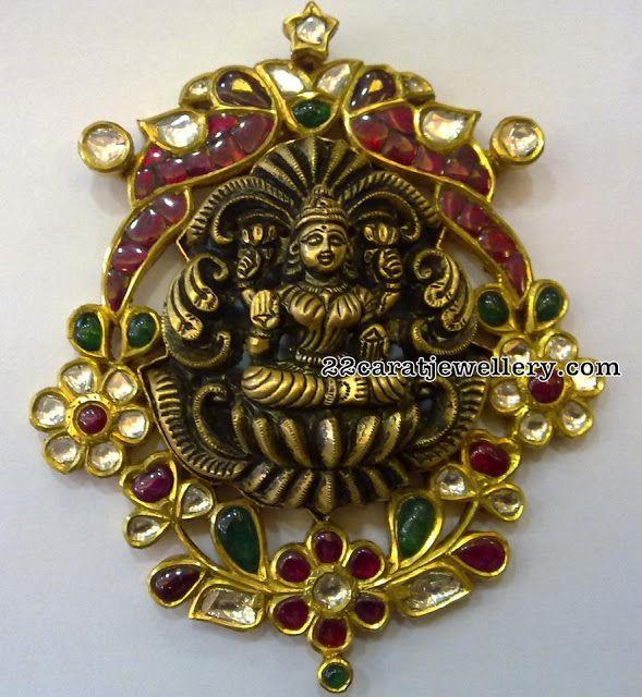 Lakshmi Pendants by Floral Clasps - Jewellery Designs