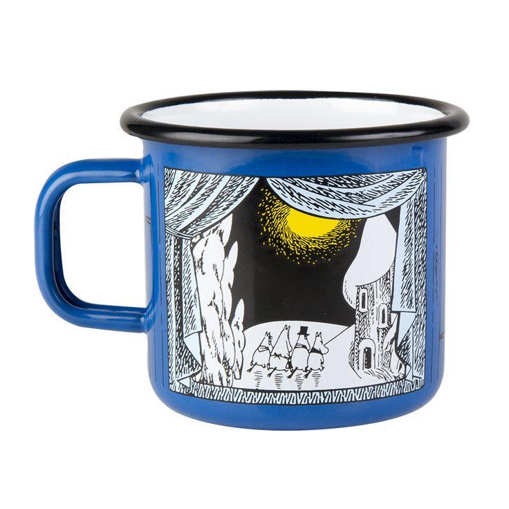Moomin winter enamel mug
