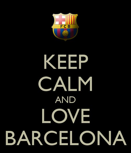 KEEP CALM and LOVE BARCELONA. The team that will be remembered by everyone. So many greats on this team. Messi, Neymar, Ochoa....would love to see a game....my dream