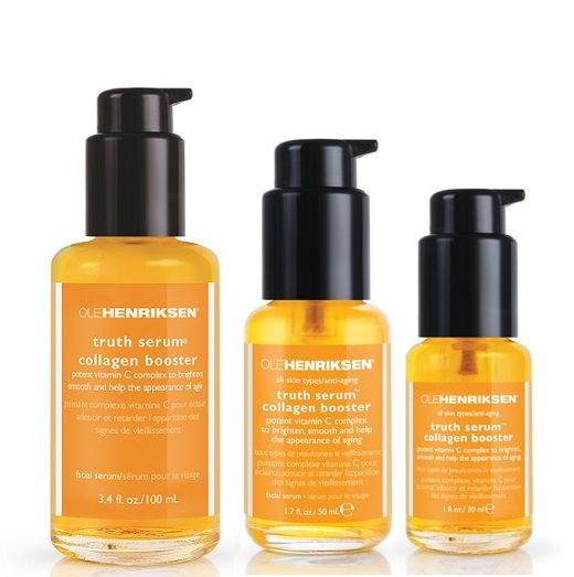 $128.00 -- Ole Henriksen - truth boosting collagen- Like a daily vitamin for your face, this high powered vitamin C complex helps smooth out lines and wrin moisture-binding ingredients to keep your skin nourished and protected, this aromatic serum is absorbed instantly and penetrates to thehttps://www.olehenriksen.com/p-68-truth-serum-collagen-booster.aspx?siteID=TnL5HPStwNw-JJjmL82aIJ9ZtWjwY2zqpQ
