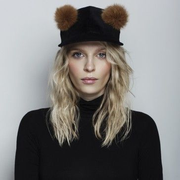 Teddy Bear Velvet Cap