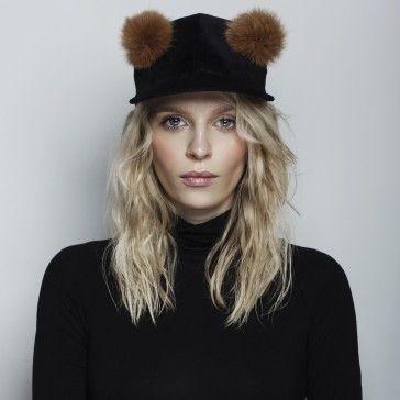 Teddy Bear Velvet Cap