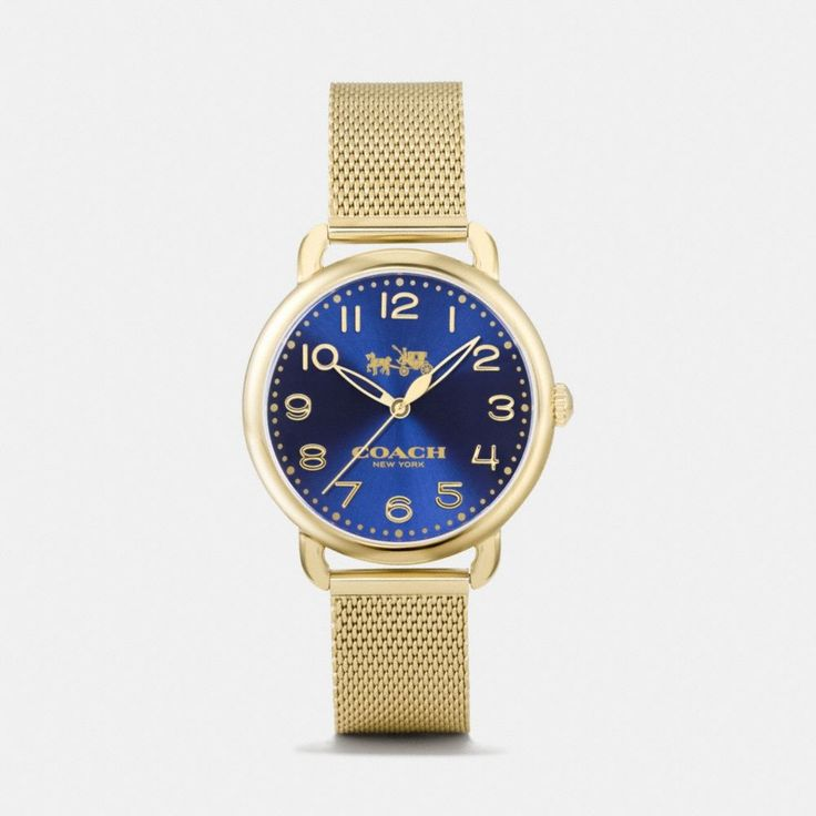 Shop The COACH Delancey Gold Tone Sunray Dial Mesh Bracelet Watch. Enjoy Complimentary Shipping