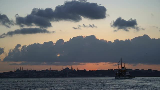 The Historical Peninsula at The Istanbul Stock Video Footage - VideoBlocks
