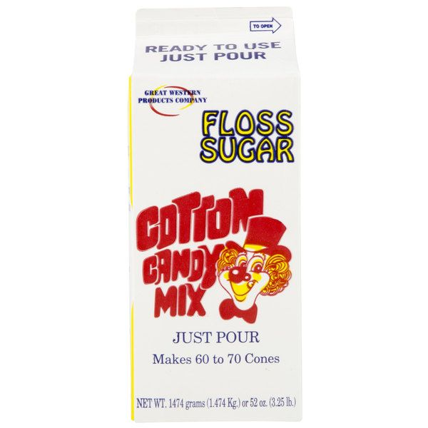 Great Western 1/2 Gallon Carton Purple Grape Cotton Candy Floss Sugar