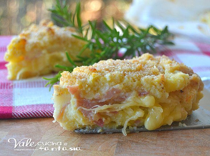 Torta di patate con prosciutto e formaggio