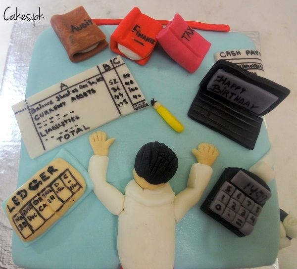 Special Cake for Chartered Accountant | Cakes.pk .. I SOOOO need this cake