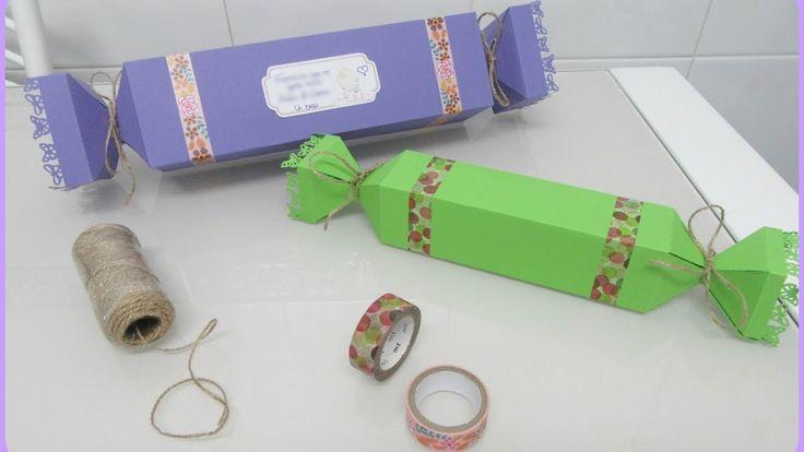 Envolver regalos de forma original. Caja - caramelo (Cualquier medida) / vídeo