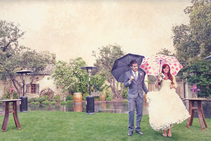 Rain on wedding day. I would actually love for it to rain on my wedding day!