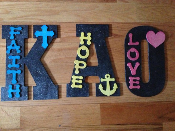 kappa alpha theta wood letters active self reliant trustworthy