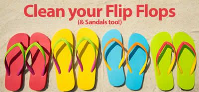 How-to Clean your Flip Flops (and Sandals too!) Rubber, foam, leather or suede, this is the ultimate cleaning guide for flop flops!