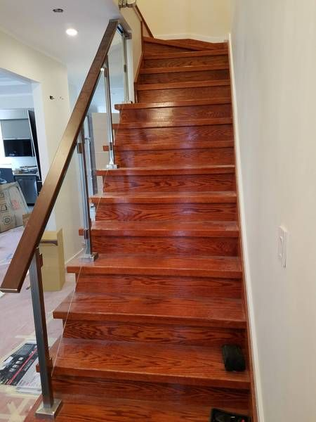 Best Modern Square Stairs Balcony Glass Handrail Staircase 400 x 300