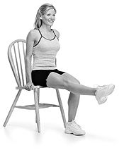 Slim Hips and Thighs Exercise Tips - all it calls for is a chair and a pillow!